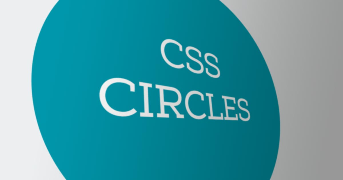 Responsive CSS Circles ~ I • SAN ~ Passion For Technology
